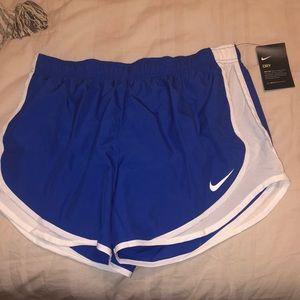 Nike Royal Blue/White Running Shorts (never worn)